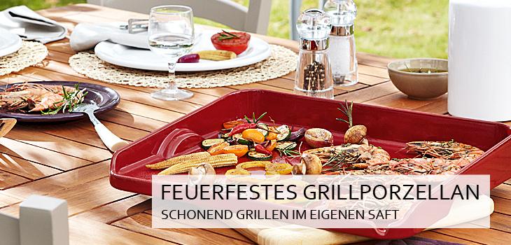 Feuerfestes Grillporzellan - Schonend grillen im eigenen Saft