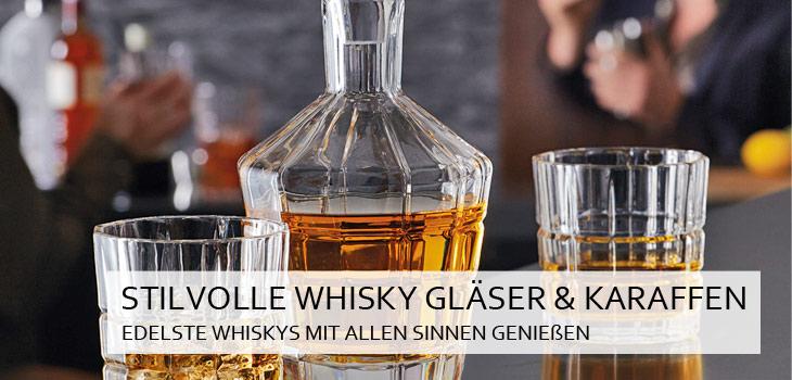 Stilvolle Whisky Gläser, Karaffen & mehr